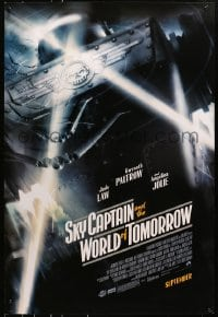 8a789 SKY CAPTAIN & THE WORLD OF TOMORROW advance DS 1sh 2004 September style, great image of ships!