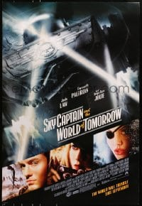 8a788 SKY CAPTAIN & THE WORLD OF TOMORROW advance DS 1sh 2004 Jude Law, Gwyneth Paltrow, Jolie!