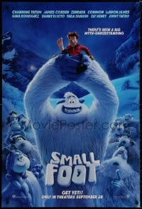 8a797 SMALL FOOT advance DS 1sh 2018 Abominable Snowman, there's a myth-understanding, get Yeti!