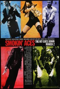 8a798 SMOKIN' ACES advance DS 1sh 2007 March style, Ben Affleck, Jason Bateman, Ryan Reynolds, Keys