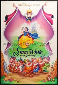 8a799 SNOW WHITE & THE SEVEN DWARFS DS 1sh R1993 Disney animated cartoon fantasy classic!