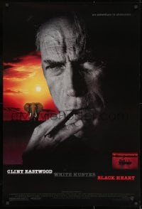 8a964 WHITE HUNTER, BLACK HEART 1sh 1990 Clint Eastwood as director John Huston in Africa!