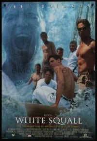 8a965 WHITE SQUALL DS 1sh 1996 directed by Ridley Scott, barechested sailor Jeff Bridges!