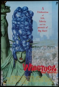 8a966 WIGSTOCK 1sh 1995 drag queen festival documentary, wild image of Statue of Liberty w/wig!