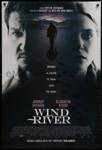 8a972 WIND RIVER advance DS 1sh 2017 Jeremy Renner, Olsen, nothing is harder to track than truth!
