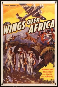 8a973 WINGS OVER AFRICA 1sh R1947 James Carew, adventure, romance & death in the jungle!