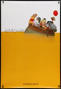 8a974 WINNIE THE POOH teaser DS 1sh 2011 great art with Tigger, Eeyore & more on sea of honey!