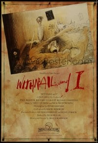 8a976 WITHNAIL & I 1sh 1987 black comedy, incredible & different Ralph Steadman artwork, rare!