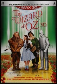 8a981 WIZARD OF OZ advance DS 1sh R2013 Victor Fleming, Judy Garland all-time classic, rated PG!