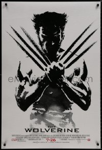 8a984 WOLVERINE style B revised advance DS 1sh 2013 art of Hugh Jackman in title role by Suren Galadjian!
