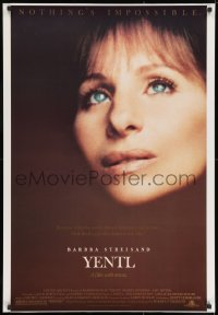 8a995 YENTL 1sh 1983 close-up of star & director Barbra Streisand, nothing's impossible!