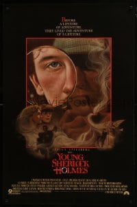 8a996 YOUNG SHERLOCK HOLMES 1sh 1985 Steven Spielberg, Nicholas Rowe, really cool detective art!