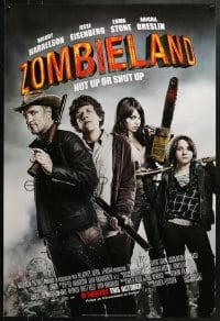 8a998 ZOMBIELAND advance 1sh 2009 Harrelson, Eisenberg, Stone, nut up or shut up, rated!