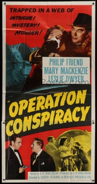 8b856 OPERATION CONSPIRACY 3sh 1957 they're trapped in a web of intrigue, mystery & murder!