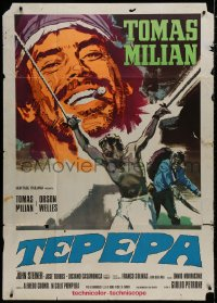 8b250 LONG LIVE THE REVOLUTION Italian 1p 1968 artwork of Tomas Milian + guy being tortured!