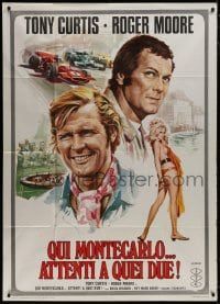 8b264 MISSION MONTE CARLO Italian 1p 1974 Roger Moore & Tony Curtis, Persuaders, racing & gambling!