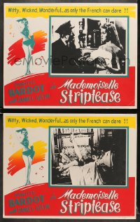 8c020 MADEMOISELLE STRIPTEASE 2 Canadian LCs 1957 different images of sexiest Brigitte Bardot!