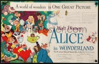 8c008 ALICE IN WONDERLAND English trade ad 1951 Walt Disney Lewis Carroll classic, wonderful art!