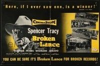 8c009 BROKEN LANCE English trade ad 1954 Spencer Tracy, 4 images of theater front with posters!