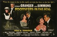 8c004 FOOTSTEPS IN THE FOG English trade ad 1955 three images of Stewart Granger & Jean Simmons!