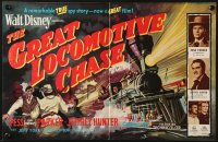 8c011 GREAT LOCOMOTIVE CHASE English trade ad 1956 Disney, really cool artwork of railroad train!