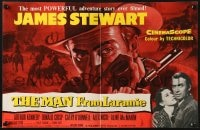 8c013 MAN FROM LARAMIE English trade ad 1955 huge c/u of James Stewart, directed by Anthony Mann!