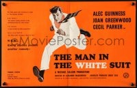 8c001 MAN IN THE WHITE SUIT English trade ad 1951 Alec Guinness Ealing classic, country of origin!