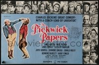 8c005 PICKWICK PAPERS English trade ad 1952 from Charles Dickens's novel, cast portraits!
