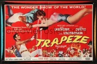 8c017 TRAPEZE English trade ad 1956 great art of Burt Lancaster, Gina Lollobrigida & Tony Curtis!