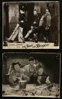 8c019 BABES IN TOYLAND 4 French from 7.25x9.5 to 8x9.5 stills R1950s Stan Laurel & Oliver Hardy!