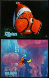 8c040 FINDING NEMO 11 French LCs 2003 best Disney & Pixar animated fish movie, cool underwater images!