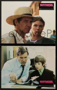 8c034 WITNESS 5 French LCs 1985 big city cop Harrison Ford in Amish country, Peter Weir!