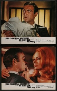 8c038 YOU ONLY LIVE TWICE 8 French LCs R1970s art of Sean Connery as James Bond by Frank McCarthy!