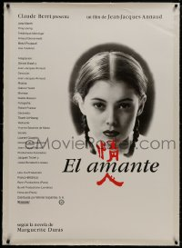 8m030 LOVER linen Spanish 1992 Jean-Jacques Annaud's L'Amant, close portrait of young Jane March!