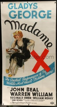 8p029 MADAME X linen style B 3sh 1937 great art of smoking bad mother Gladys George, ultra rare!