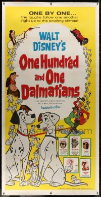 8p033 ONE HUNDRED & ONE DALMATIANS linen 3sh 1961 most classic Walt Disney canine family cartoon!