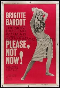 8p019 ONLY FOR LOVE linen 40x60 1963 Roger Vadim's Please Not Now, full-length sexy Brigitte Bardot!