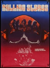 8p001 SYMPATHY FOR THE DEVIL 35x47 special poster 1970 art of The Rolling Stones in skull, rare!
