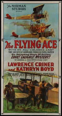 8r036 FLYING ACE 3sh 1926 cool all-black aviation, the greatest airplane thriller ever produced!