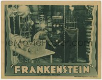 8r007 FRANKENSTEIN LC R1938 Colin Clive & Dwight Frye by monster Boris Karloff, creation scene!