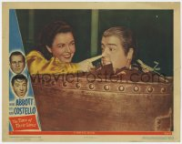 8r015 TIME OF THEIR LIVES LC #2 1946 ghost Marjorie Reynolds pokes ghost Lou Costello's nose!