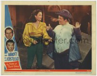 8r014 TIME OF THEIR LIVES LC #6 1946 ghost Lou Costello at gunpoint by ghost Marjorie Reynolds!