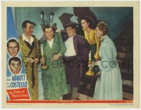 8r011 TIME OF THEIR LIVES LC #7 1946 Reynolds watches ghost Lou Costello grabbing Bud Abbott!