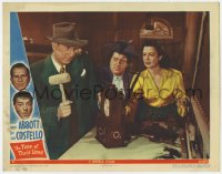 8r010 TIME OF THEIR LIVES LC #8 1946 Lou Costello & Reynolds watch Bud Abbott smash clock w/letter!
