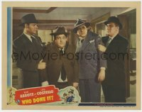 8r019 WHO DONE IT LC 1942 great image of Bud Abbott & Lou Costello grabbed by Bendix & Gargan!