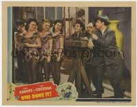 8r020 WHO DONE IT LC 1942 great image of Bud Abbott & Lou Costello flirting with sexy showgirls!