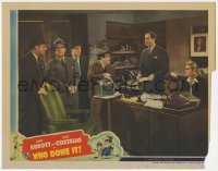8r022 WHO DONE IT LC 1942 Abbott & Costello in office with Bendix, Knowles, Gargan & Allbritton!