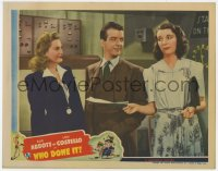 8r023 WHO DONE IT LC 1942 Don Porter between Louise Allbritton & Mary Wickes in radio station!