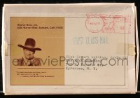 8r029 CAHILL 4x5 promotional metal boot spur 1973 memento of The Old West from John Wayne, rare!