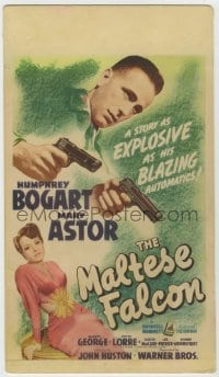 8r033 MALTESE FALCON mini WC 1941 Humphrey Bogart, Mary Astor, John Huston film noir, ultra rare!